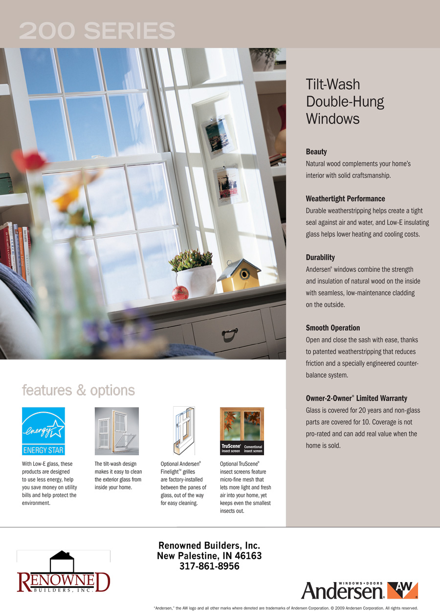 Renowned Builders, Inc. | Custom Homes | Andersen Replacement ...